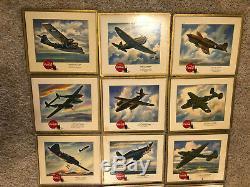 Vintage 1940s Coca-Cola World War 2 Airplane Advertisement Cardboard Signs