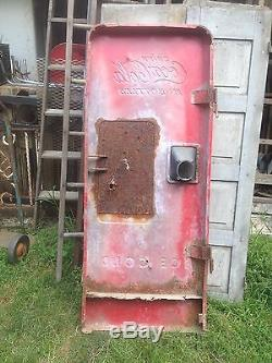 Vintage 1940s Coke Machine Door CocaCola Bottling Co Metal Large Wall Sign Art