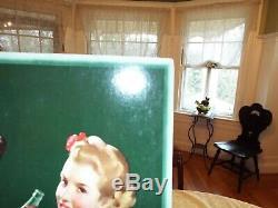 Vintage 1942 16 by 27 Ballerina Coca Cola Cardboard Lithograph