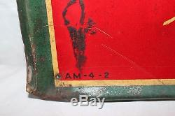 Vintage 1942 Drink Coca Cola Delicious & Refreshing Soda Pop 28 Metal Sign
