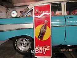 Vintage 1948 Coca Cola Sign with Bottle
