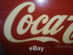 Vintage 1948 Drink Coca Cola Sign Coke Rare Antique Soda Store 27x19