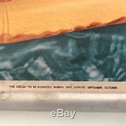Vintage 1950's Coca Cola / Coke Be Really Refreshed Framed Litho Sign Cardboard