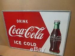 Vintage 1950's Drink Coca Cola sign No Reserve
