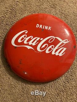 Vintage 1950's Original Drink COCA COLA Coke 24 Button Advertising Sign