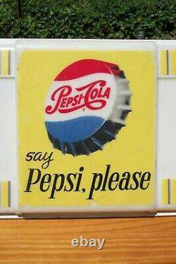Vintage 1950's Pepsi Lighted Sign, not Coke or 7up /Beautiful Condition! 48 x11