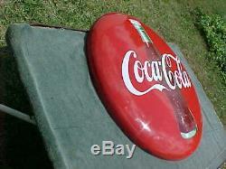 Vintage 1950s COCA COLA COKE Button Porcelain Sign 36