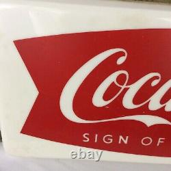 Vintage 1950s Coca Cola Fishtail Store Display Light Sign Of Good Taste Soda Pop
