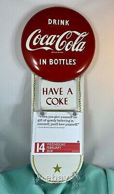 Vintage 1950s Coca Cola. METAL/TIN CALENDAR SIGN RARE FIND