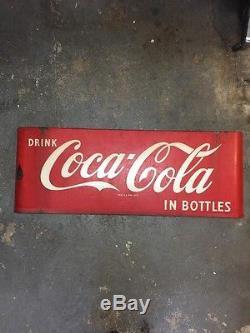 Vintage 1950s Coca Cola Sled Sign Original