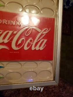 Vintage 1950s DRINK COCA-COLA VENDO SODA POP DISPLAY ADVERTISING MACHINE SIGN