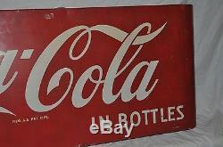 Vintage 1953 Coke Coca Cola 43 Single Sided Metal Sign