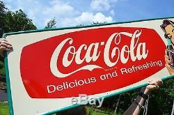 Vintage 1956 Coca Cola One Of A Kind Allen Morrison Drink Sign Minty Nos Scarce