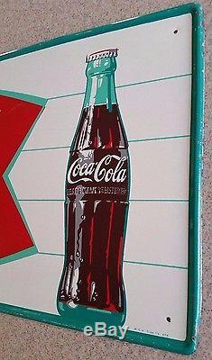 Vintage 1960's Coca Cola fishtail sign