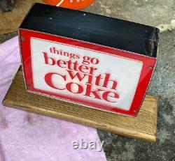 Vintage 1960s Coca-Cola Counter Light-Up Sign