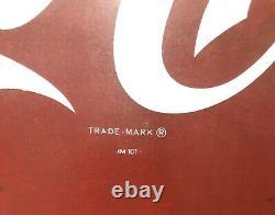 Vintage 26x12 Coca Cola Coke Fish Tail Sign AM101