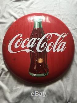 Vintage 36 Inch Coca Cola Button