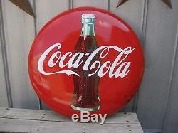 Vintage 36 Porcelain Coca Cola Bottle Button Coke Sign
