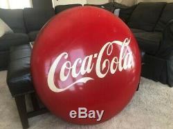 Vintage 36 Porcelain Coca Cola Bottle Button Coke Sign B1762