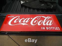 Vintage 50's era Coca-Cola Porcelain Sled. BIN Ships Free