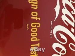 Vintage Am-60 Original 12 Coca-cola Button Sign Of Good Taste. Mint Condition