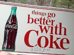 Vintage Antique Coke Coca Cola Door Push Kicker Tin Non Metal Porcelain Sign