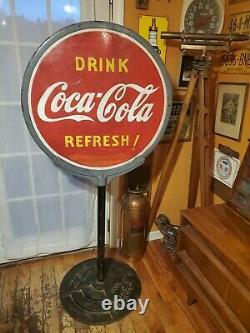 Vintage Antique Porcelain Coca-cola Lollipop Sign