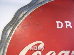Vintage Bottle Cap Drink Coca-Cola Sign by Kay Displays, Inc