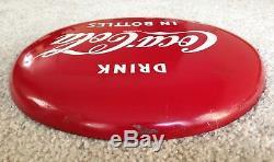 Vintage COCA COLA 12 Button Metal Sign DRINK IN BOTTLES