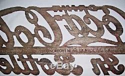 Vintage COCA-COLA Metal sign Pre 1950's Brown Manufacture / Newport News Va