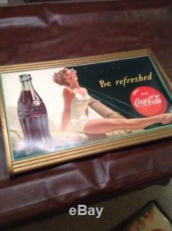 Vintage Cardboard LITHO Display Sign Original Frame 1949 Antique Advertising