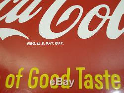 Vintage Coca Cola 12 Sign of Good Taste Button AM58
