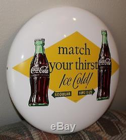 Vintage Coca Cola 16 Button Sign regular king size coke