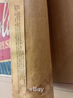 Vintage Coca Cola 1930 Heavy Fibre Paper Sign Banner Rare Cardboard Bottle