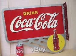 Vintage Coca Cola 1930's Flange Sign Original New Old Stock No Reserve