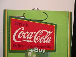 Vintage Coca Cola 1932 3D Cardboard Sign New Old Stock Unused