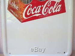 Vintage Coca Cola 1947 Pilaster Original Sign No Reserve