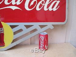 Vintage Coca Cola 1947's Flange Sign Excellent Original No Reserve