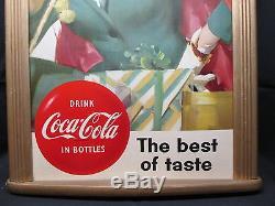 Vintage Coca Cola 1950's Cardboard Sign EXC. Condition NO RESERVE