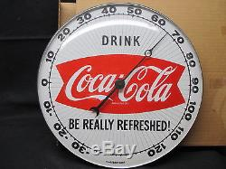 Vintage Coca Cola 1950's NOS Thermometer Sign With Original Box RARE No Reserve