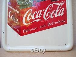 Vintage Coca Cola 1952 Original Pilaster Sign No Reserve