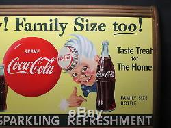 Vintage Coca Cola 1955 Sprite Boy Cardboard Sign EXC. Condition NO RESERVE
