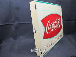 Vintage Coca Cola 1960's SOGT Flange Sign Excellent Condition No Reserve