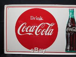 Vintage Coca Cola 1960's TGBWC Painted Sign Very Clean NO RESERVE