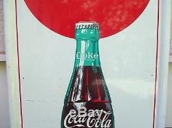 Vintage Coca Cola 1960's TGBWC Sign Original No Reserve