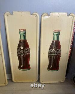 Vintage Coca-Cola 40 x 16 Pilaster Sign (1)