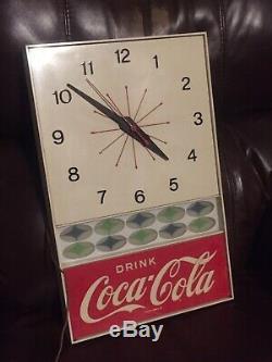 Vintage Coca-Cola Advertising Clock diner Sign Diner