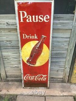 Vintage Coca Cola Advertising Sign 1930's