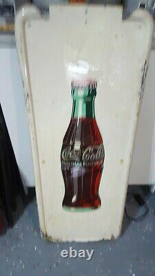 Vintage Coca Cola Bottle Pilaster Sign 1949