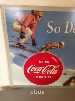 Vintage Coca Cola, Cardboard, 2 sided sign